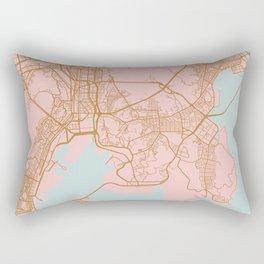 Busan map, South Korea Rectangular Pillow