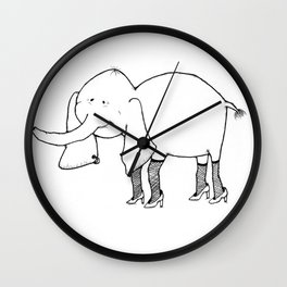 Elephant on the Town Wall Clock
