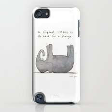 an elephant, sleeping on its back for a change iPod touch Slim Case