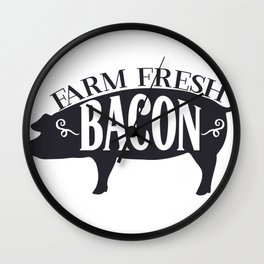 Farm and Country Farm Fresh Bacon Wall Clock