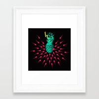 pineapple Framed Art Prints featuring Pineapple by mark ashkenazi