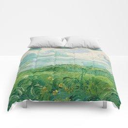 Green Wheat Fields, Auvers, 1890, Vincent van Gogh Comforters