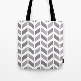Gray and white chevron pattern Tote Bag