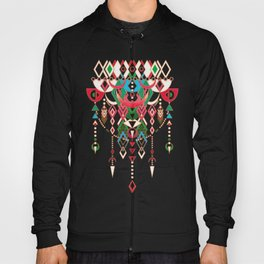 Modern Deco in Red and Black Hoody