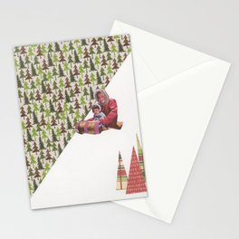 Sledding Stationery Cards