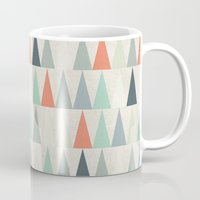 triangles Mugs featuring Triangles by Dizzy Moments
