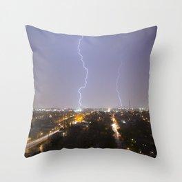 City Lightning. Throw Pillow