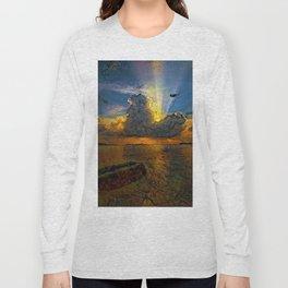 Sunset on island Long Sleeve T-shirt