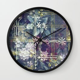 Stylish Vintage Happy Holidays Wall Clock