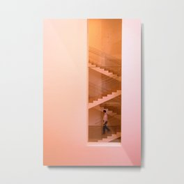 Day at the museum - stairs Metal Print