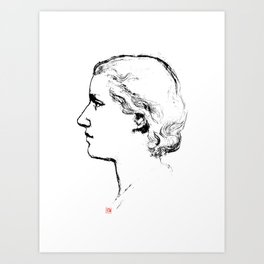 Old School Portrait  Art Print