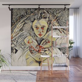 4448s-AB The Succubus Dreams of You Erotic Art in the style of Kandinsky Wall Mural