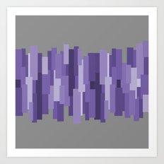 pravokut (violet) Art Print
