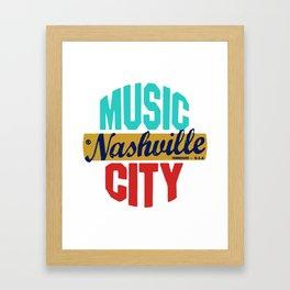 Nashville Vintage Framed Art Print