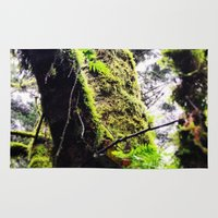 climbing Area & Throw Rugs featuring Tree Climbing  by Post Haste Art
