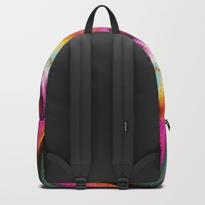 Abstract Feather organic pattern Backpack