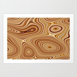 Caramel Nafta 8 magic fluid digital Hi Res Art Print
