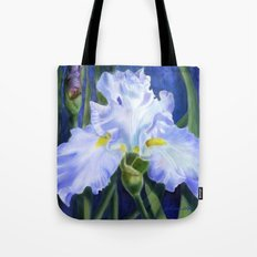 Blue Ruffles Tote Bag