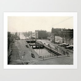 Crawford Street Bridge, Providence, Rhode Island Art Print
