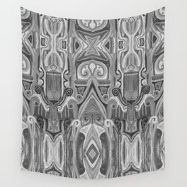 Totem and taboo- animist art-African style-archetype-ink painting-geometry Wall Tapestry