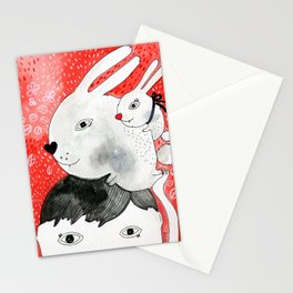Bunnies on my head Stationery Cards