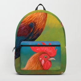 Rooster and his family Backpack