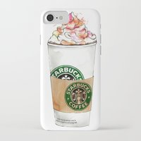 starbucks iPhone & iPod Cases featuring Starbucks by Vicky Ink.