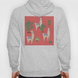 Llama with Cacti Hoody