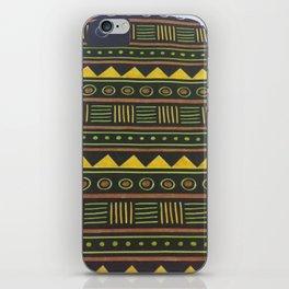 aztec design yellow iPhone Skin
