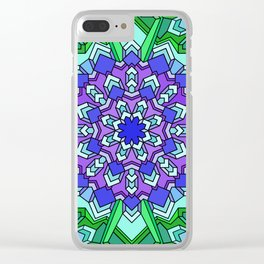 Kaleidoscope of Cool Colors Clear iPhone Case