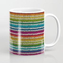 Rainbow knitted stripes Coffee Mug