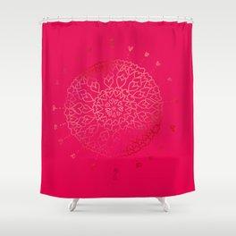 Heartful mandala (pink) Shower Curtain