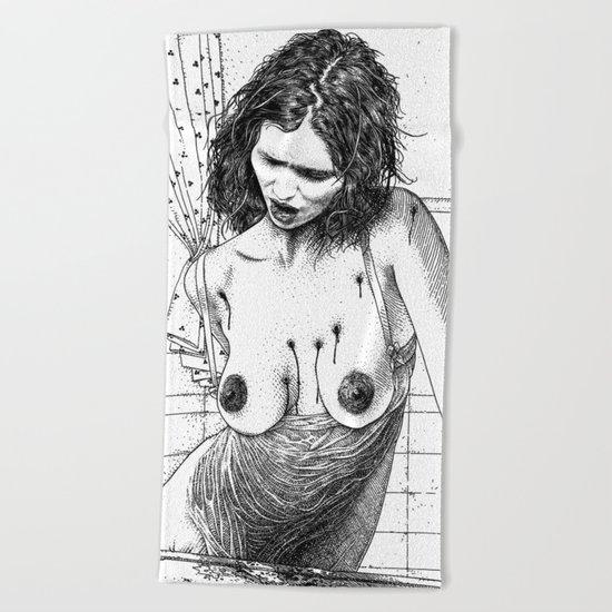 asc 641 - La petite mort (The morning martyrdom) Beach Towel