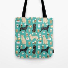 Golden Retriever and Coonhound design Tote Bag