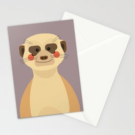 Meerkat, Animal Portrait Stationery Cards