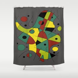 Abstract #226 The Cellist #2 Shower Curtain