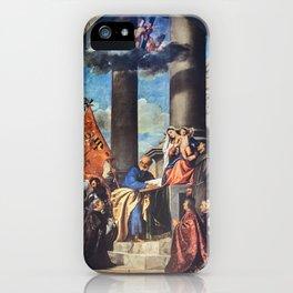 Titian - Altar of Madona di Ca'Pesaro iPhone Case