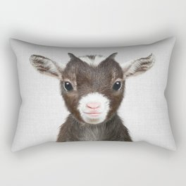 Baby Goat - Colorful Rectangular Pillow