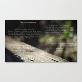 The Four Agreements 4 Canvas Print