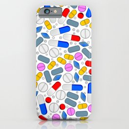 Pills Isolated On White Background iPhone Case