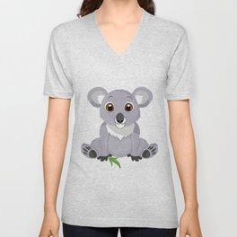 Cute Little Koala Bear Unisex V-Neck