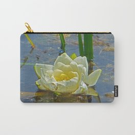 Blue Damselfly Aquatic Lily Carry-All Pouch