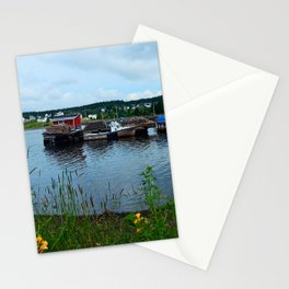 Fisherman's Wharf in Cape Breton Stationery Cards