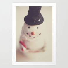 mr. snowman Art Print