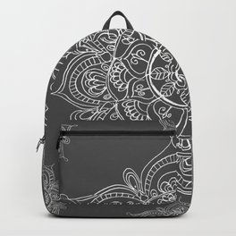 Gray mandala Backpack