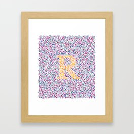 """R"" Eye Test Full Framed Art Print"