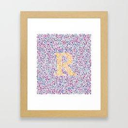 """""""R"""" Eye Test Full Framed Art Print"""