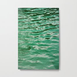 mint petrol blue WATER Metal Print