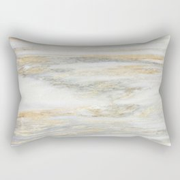 White Gold Marble Texture Rectangular Pillow