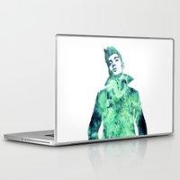zayn malik Laptop & iPad Skins featuring Zayn Malik / One Direction by Justified
